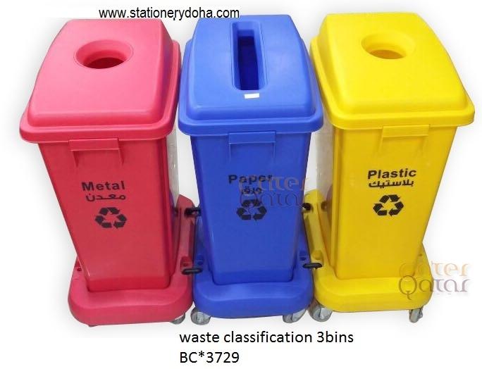 waste classification station bins – Cater Qatar